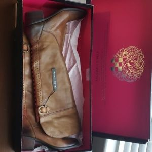 Vince Camuto Tan Studded Tall Boots